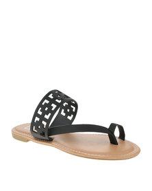 Zoom Lolita Flat Sandals Black