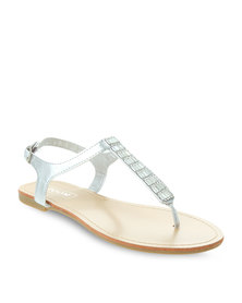 Zoom Hadley Sandals Silver