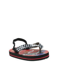 ZOOM Cars Flip Flops Black/White