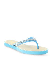 Zoom Gerie Embellished Slip-on Sandals Blue
