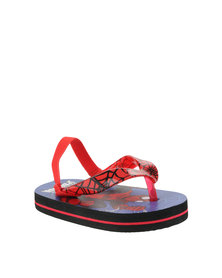 ZOOM Spider Man Flip Flops Red