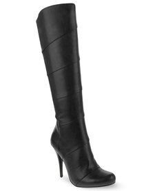 Zoom Sexy High Heeled Boots Black