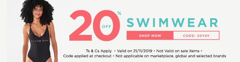 20% Off Swimwear - Code: 20YAY