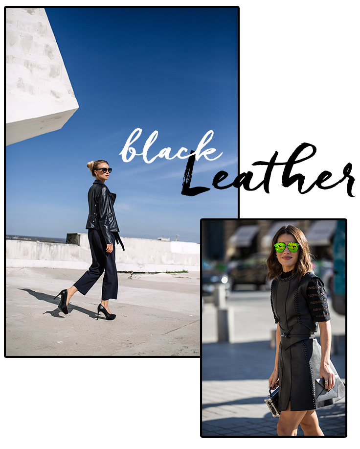 How To Wear Black & Leather In Summer