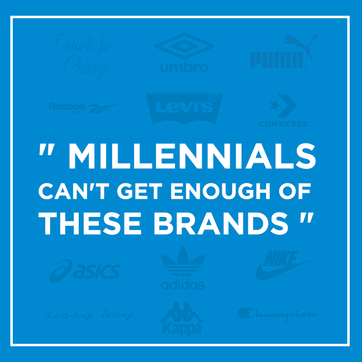Millennials can't get enough of these brands