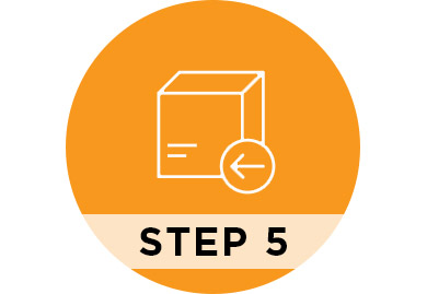 Step 5 Pack and ship