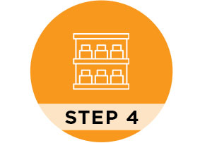 Step 4 Manage your orders and your stock