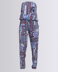 N'Joy Printed Jumpsuit Blue