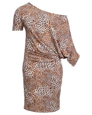 N'Joy Off Shoulder Dress Multi-Coloured