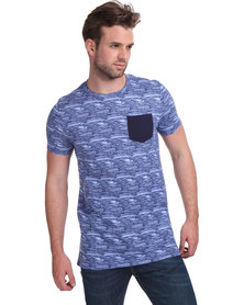 Cutty Leroy Tee with Pocket Navy