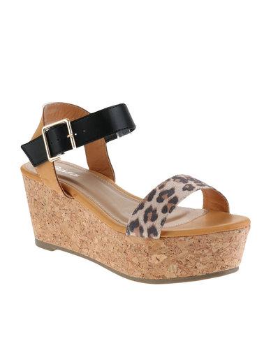 60b0800547c Bata Trendy Wedge Sandals Brown