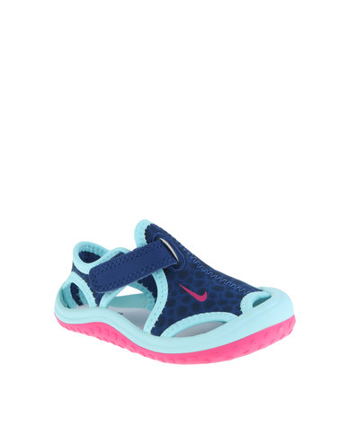 8923d526eaa Nike Sunray Protect Toddler Sandals Blue | Zando