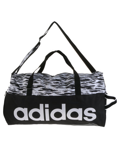 11ac5d0115cf adidas Performance Linear Performance Team Bag Medium Graphic Black ...