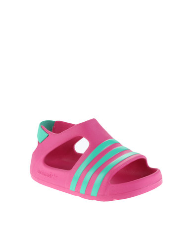 a04fa7862 adidas Adilette Play Infant Sandal Pink Blue