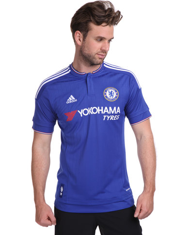 sneakers for cheap 83325 f92a6 adidas Performance Chelsea FC Home Replica Player Jersey 2015/16 Blue