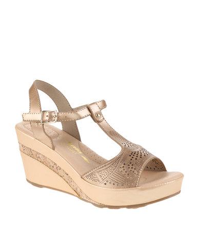 Bata Comfit Bata Comfit Wedge Heels Light Gold cheap collections bga15