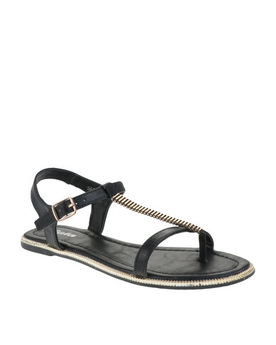 T-bar Sandals Black Bata wholesale price cheap price discount authentic online pay with paypal online new arrival lowest price T5LfImdh