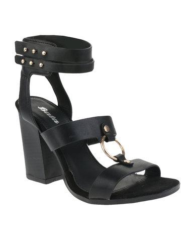0d76c7c82ab Bata Block Heel Sandals Black