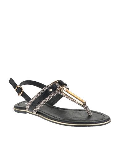 shop for for sale T-bar Sandals Black Bata outlet comfortable hqm3ZtjQ