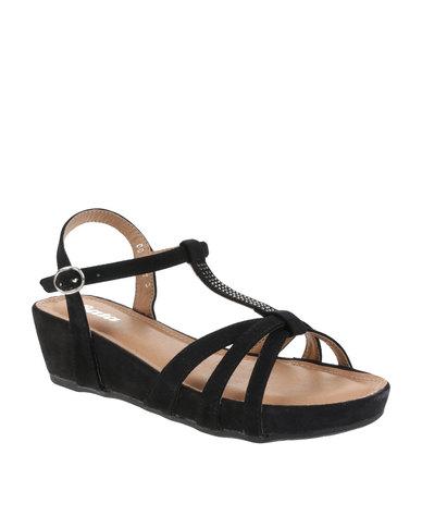 4c6a90e9c65a Bata Slingback Wedge Sandals Black