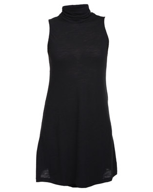 82ba2a727cd38f Catwalk 88 Maura High Neck Sleeveless Swing Dress Black