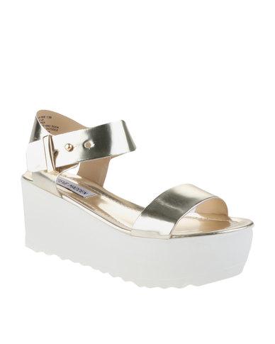 71fef3a38c5 Steve Madden Surfside Lug Sole Platform Sandals Gold