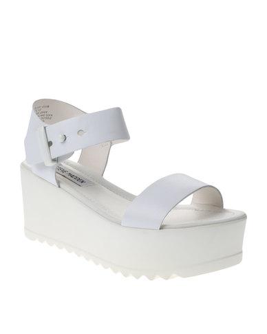 4df91b0d13a7 Steve Madden Surfside Lug Sole Platform Sandals White