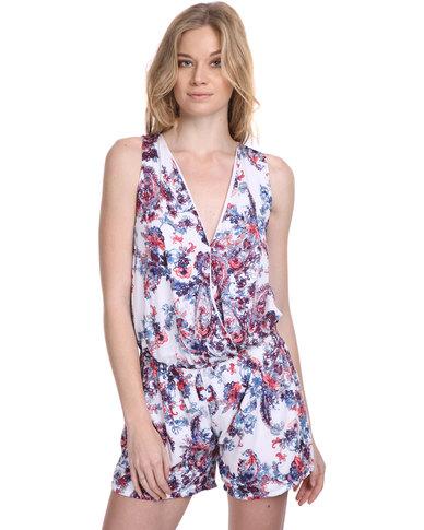 theHive Short Jumpsuit Flower Print