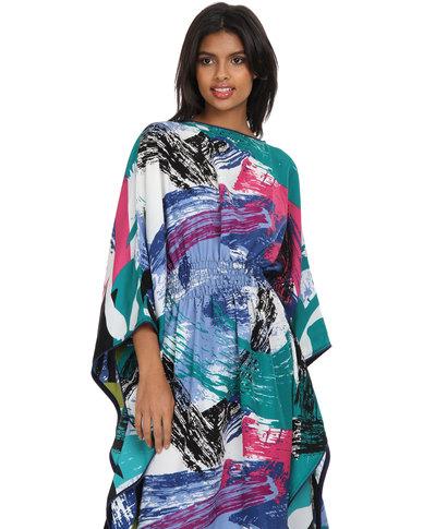 72087e81e88d Mantsho By Palesa Mokubung Summer Kaftan Dress Multi-Coloured