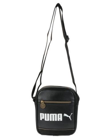 743553ed3b Puma Campus Portable Cross Body Bag Black
