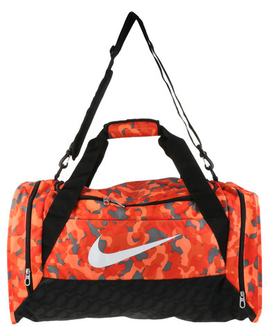 Nike Performance Brasilia 6 Duffel Bag Graphic Medium Orange