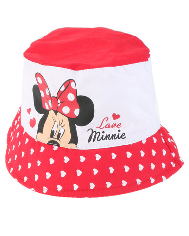 23f266b6959 Character Brands Minnie Mouse Bucket Hat Red White