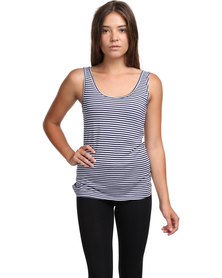 Betty Basics Miami Singlet Blue