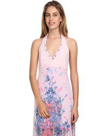 Jatine Juliette Maxi Dress Pink Floral Print