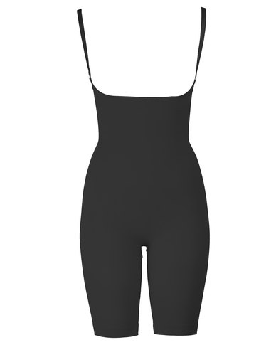Playtex Seamless Long Leg Body Shaper Black