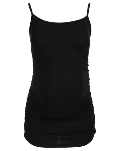Cherry Melon Cami with Side Detail Black