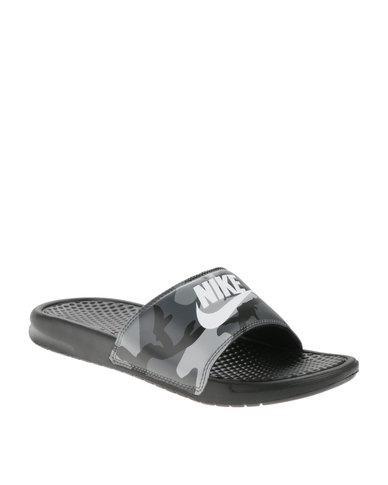 9a239c440314 Nike Benassi JDI Print Sandals Black