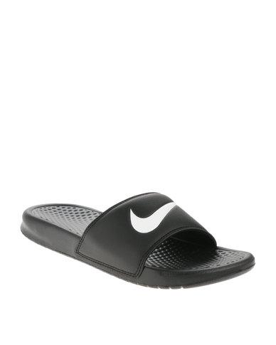 dcff3cd0e038 Nike Benassi Swoosh Sandals Black
