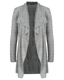 Annabella Maternity Waterfall Cardigan Light Grey