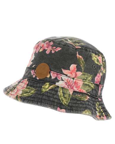 Billabong Wild Orchid Reversible Bucket Hat Black  71238922de7