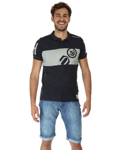 b69bde25 Crosshatch Maytrick Short Sleeve T-Shirt Navy Blue | Zando