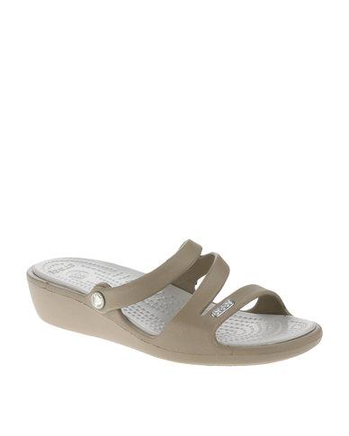 69aa35b84b14 Crocs Patricia Wedge Sandals Khaki