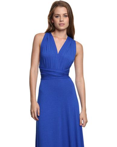Utopia Multi way Dress Cobalt Blue