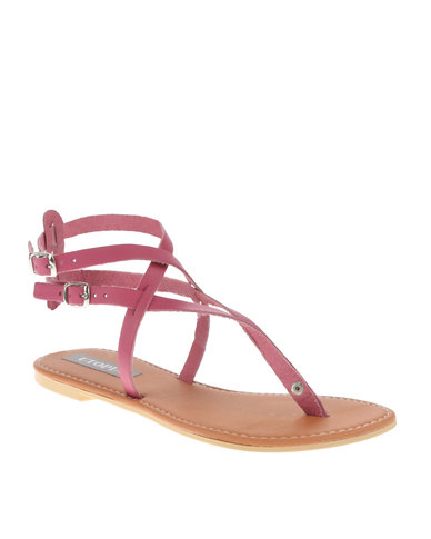 e72616dab95f90 Utopia Strappy Thong Sandals Pink