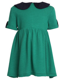 Miss Molly Angela Collar Dress Green