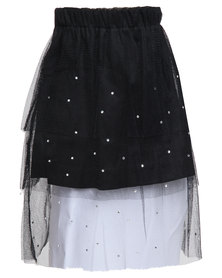 Miss Molly Beth Embellished Tutu Black