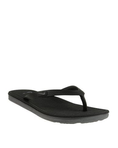 9744b3950fb9 Nike Solarsoft Thong 2 Black
