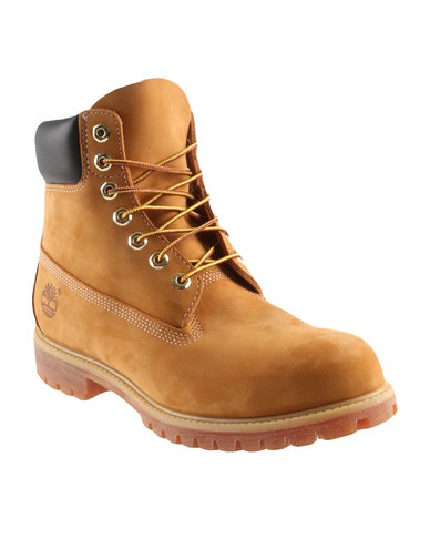 Timberland 6 Inch Premium Leather Boots Neutrals