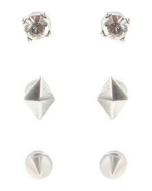 Miglio Spike Earring Set Sterling Silver