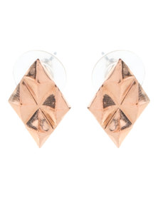 Miglio Petite Geometric Earrings Rose Gold-Tone